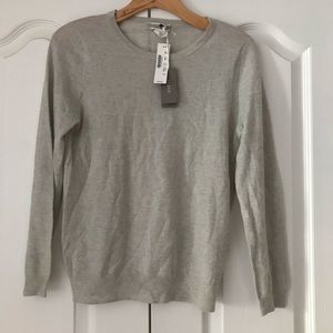 J. Crew Featherweight Cashmere Gray Sweater S 4 6